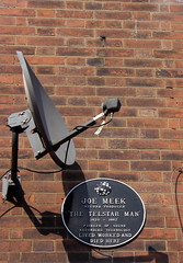 The Telstar Man Indeed (Pete Woodhead) Tags: uk london site dish flat satellite historic pioneer recording hollowayroad joemeek thetelstarman bedroommixer