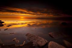 BLAZE_DSC5651_E (antelope reflection) Tags: lake reflection beach water colors utah antelopeisland greatsaltlake nikond90 tamron1024