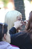 Tori Spelling films for her new television show at The Grove Los Angeles, California