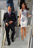 Prince William, Duke of Cambridge and Catherine Duchess of Cambridge aka Kate Middleton The Duke and Duchess of Cambridge arrive at LAX International Airport Los Angeles, California