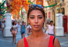 Republic Street (Charles Hamilton Photography) Tags: street summer portrait colour girl streetphotography streetportrait malta valletta republicstreet 18105mm nikond90