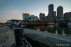 Boston Harbor Chain (idashum) Tags: city longexposure nightphotography sunset boston night nikon cityscape massachusetts ida shum d300 idashum idacshum tpslandscape