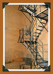 STAIRS TO HEAVEN (marsha*morningstar) Tags: chicago brick illinois escape stairway ladder exit lincolnhotel ironsteps