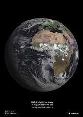 MSG-3, Europe's latest weather satellite, delivers first image (europeanspaceagency) Tags: globe earth esa europeanspaceagency eumetsat msg3