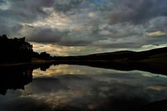 Variation on a theme. (sidibousaid60) Tags: uk sunset sky reflection water clouds buxton dusk derbyshire peakdistrict erwoodreservoir