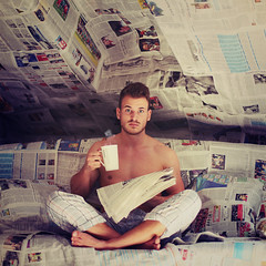 every morning. (stefanheider) Tags: morning news home me cup tasse canon paper photography 50mm room 14 kaffee loveit ich morgen stefanheider