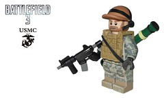 BF3 Engineer - USMC (-Yoshifan151-) Tags: 3 usmc us marine lego united class corps states battlefield engineer cqb m4a1 bf3 at4 cqbr m136 brickarms