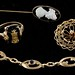 4059. Vintage 10KT Gold Jewelry Grouping