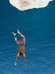 Learning to Fly (Alex L'aventurier,) Tags: ocean boy sea man water jump eau dive croatia dubrovnik dalmatian homme croatie ocan dalmate