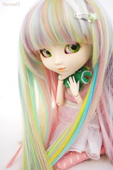 Asumi (Nanou~) Tags: original white hair doll dino background chii planning wig asu pullip custom blanc paja originale multicolor custo fond jun perruque cheveux poupe multicolore asumi frange customise dino~chi