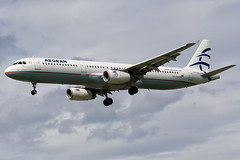 SX-DVO-EGLL-09 June 2012 (Martyn Gill - IMAGES -731,000 Views - Thank You...) Tags: canon 350d approach egll londonheathrowairport aegeanairlines runway27l martyngillphotography