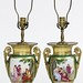 48. Pair of Antique Paris Porcelain Table Lamps