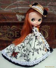 Elizabeth dressed up for a stroll...