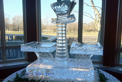 Mad Hatter Seafood Display Ice Sculpture