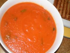 Creamy Tomato Soup - Tomato-Basil Soup Variation (dimsimkitty) Tags: veganomicon