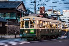 Tram 4 (kmmanaka) Tags: japan nagasaki evening harbor tram dejima meganebashi scooter