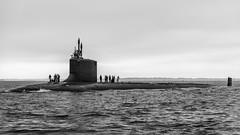 The USS Missouri SSN780 (Frank C. Grace (Trig Photography)) Tags: ussmissouri ssn780 submarine navy naval subbase tugboat nuclear attacksubmarine virginiaclass thamesriver newengland