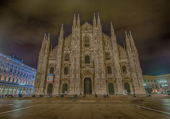Milan Cathedral (Wizard CG) Tags: hdr milan cathedral duomo roman catholic gothic neogothic neoclassical 1386 engineering structure architecture epl7 wideangle photomatix tonemap tonemapping milano italy skyline building outdoor nightshots long exposure night
