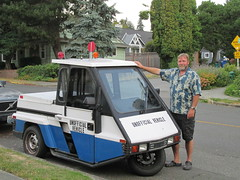 unofficial vehicle go-4 (11) (Handsomejimfrommaryland) Tags: seattle washington go4 interceptor unofficial car vehicle motorcycle auction meter reader parking enforcement fremont police 1996 nude bikini blonde norwegian rainbow republic trike three wheeler scooter moped