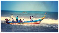 #fishing #boat #seafood #sea #andhrapradesh #bayofbengal #seawaves #fisherman #canoncamera #costalline (shanmukharika) Tags: fishing boat seafood sea andhrapradesh bayofbengal seawaves fisherman canoncamera costalline