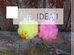 Idea Para Organizar Las Esponjas De Bao / Bath Sponges Upcycling Idea (irecyclart) Tags: diy homedcor idea sponge upcycled