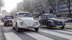Volkswagen Beetles (R. Engelsman) Tags: beetle kever volkswagen vw auto car vehicle automotive oldtimer classiccar klassieker rotterdam rotjeknor roffa 010 nederland netherlands holland coolsingel milieuzone protest street compact outdoor road