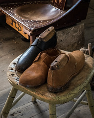 Becoming Shoes (Explored) (lclower19) Tags: osv sturbridge village massachusetts shoes odt