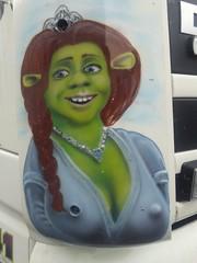 Nipples (Bricheno) Tags: shrek princessfiona copyright ogre cleavage nipples truck lorry scotland escocia schottland cosse scozia esccia szkocja scoia    paisley hillington bricheno