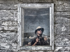 Raleigh (marianna_a.) Tags: self selfie selfportrait reflection me marianna armata raliegh newfoundland old wood cabin shack canada history p2730350