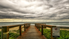 The deck (BAN - photography) Tags: deck beach beachfront surf sea ocean water vegetation sand fence sign d810