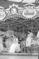 kiss the bride (Mrs Bs Photos) Tags: carousel mono wedding kissthebride kiss newyork brooklynpark
