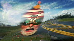 The View Out the Windscreen as Commander Conrad Approached the Manigotapi Motel 6 in the Rubber Duck Special (Studio d'Xavier) Tags: werehere curvy deadmanscurve therubberduckdaredevilsquadron speed motion reflection 365 september52016 249366