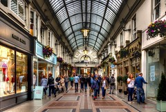 Shopping Arcade (Rich Walker75) Tags: shopping arcade architecture arches arch bournemouth shops dorset hdr canon eos eos100d handheld colour color building buildings