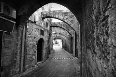 Rodi - old town (marcobertarelli) Tags: geometry bw old ancient rodi town mura shadows light street