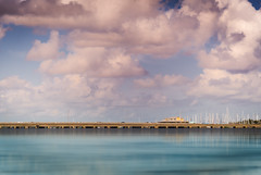 Candy Clouds (justenoughfocus) Tags: bridge palmetto sonyalpha water bradenton clouds fineart florida landscapephotography manateecounty manateeriver marina paintography reflection unitedstates