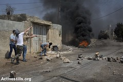 Protest against the occupation, Kafr Qaddum, West Bank, 26.8.2016 (activestills) Tags: palestine westbank occupation kafrqaddum palestinianpopularstruggle protest demonstration clashes stones youth fire topimages orenziv