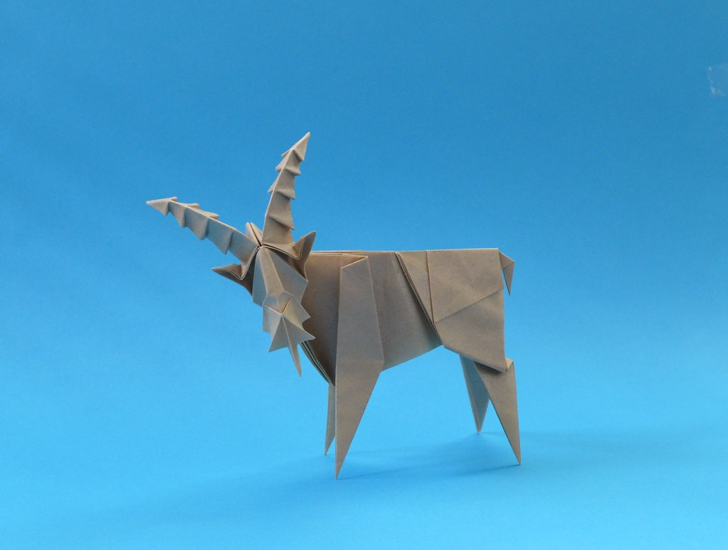 easy origami goat instructions