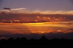 Uplighting (Sundornvic) Tags: sunset sun shine rays light shropshire
