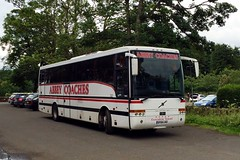 Abbey, Glasgow SF04LKG (busmanscotland) Tags: abbey glasgow sf04lkg sf04 lkg volvo b12m van hool alizee t9 dochertys midland coaches auchterarder