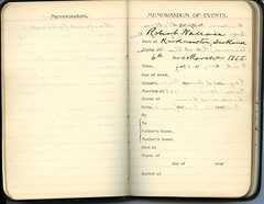 Diary of Robert Wallace p.04 (Community Archives of Belleville & Hastings County) Tags: 1880s 1890s 1900s 1910s 1920s diaries homechildren