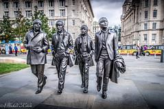 The Fab Four. (Michael J Cokien.) Tags: beatles popstars music liverpool fabfour johnlennon paulmccartney georgeharrison ringostar