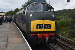 """D832 """"ONSLAUGHT"""" at Rawtenstall (colin9007) Tags: east lancashire railway diesel gala wr hydraulic maybach br swindon warship class 42 d832 onslaught"""