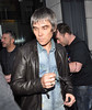 Ian Brown holding his spectacles, Stone Roses arrive at their hotel ahead of performing at Phoenix Park Dublin, Ireland