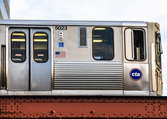 CTA Subway L Train - Chicago IL (mbell1975) Tags: bridge usa chicago train subway us illinois cta unitedstates metro il ubahn l elevated bahn brcken