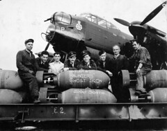 Aircrew and ground crew of No. 428 (Ghost) Squadron, RCAF, with an Avro Lancaster aircraft, England, August 18, 1944 / Lquipage et le personnel de piste du 428e Escadron (Ghost), ARC, devant un aronef Avro Lancaster, Angleterre, 18 aot 1944 (BiblioArchives / LibraryArchives) Tags: england canada germany ghost arc lac angleterre bremen allemagne avro bac rcaf aircrew groundcrew libraryandarchivescanada departmentofnationaldefence avroe middletonstgeorge ppeter bibliothqueetarchivescanada personneldepiste ministredeladfensenationale august181944 18aot1944 428eescadron avrolancasterbxaircraftkb760nap no428squadron