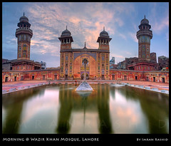 Masjid Wazir Khan (i.rashid007) Tags: longexposure pakistan panorama architecture mosaic historical lahore masjid masque wazirkhan delhigate wazirkhanmosque interiorlahore vertorama imranrashid