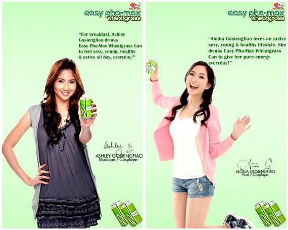 Alodia and Ashely Gosiengfiao both drink Easy Pha-Max Wheatgrass to stay active and sexy