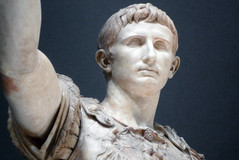 Augustus of Primaporta, detail of head