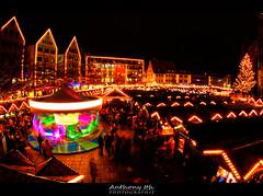 Ulmer Weihnachtsmarkt (Tazer - Anthony Ith) Tags: xmas longexposure b light bulb night germany deutschland noel weihnachtsmarkt allemagne march carroussel fil caroussel poselongue chistmasmarket