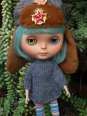 Scuffle was so happy her little Poncho from Irina arrived from Russia with Love today!